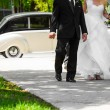 Bride and her Father Entering inside the Church — Stock Photo #53494069