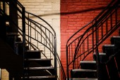 Symmetrical Staircases with two different colors — Stock Photo