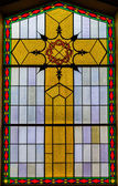Stained Glass Details inside a Church — Foto de Stock