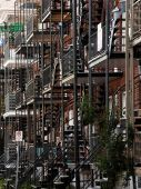 Abstract Balconies in the Poor Trois-Riviere Area — Stock Photo