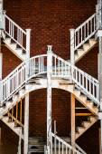 Symmetrical Staircases in the Poor Trois-Riviere Area — Stock Photo