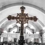 Detail of a Cross inside a Church — Stock Photo #54392953