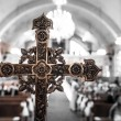 Detail of a Cross inside a Church — Stock Photo #54393035