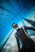Freediving Competition Security Staff — Stock Photo