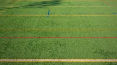 Synthetic Football Field — Stock Video