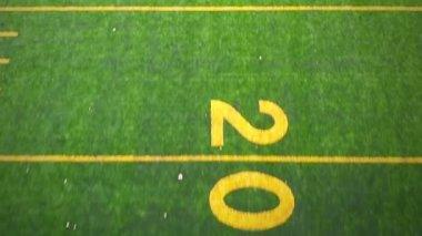 Syntetiska fotbollsplan — Stockvideo