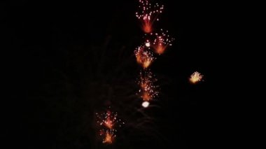 Celebration and Fireworks Explosions — Stock Video