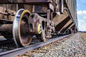 Rail road detail during a hot sping day in Farnam. — Stock Photo