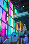 Indoor glass color at Palais des Congrès de Montréal — Stock Photo