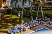 Pool of Decameraon Aquarium Hotel in San Andres Island — Stock Photo