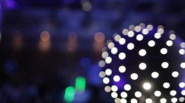 Disco Light Ball Effect Spinning — Stock Video