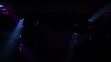 Light Show on a Empty Stage — Stock Video