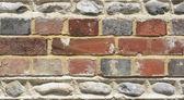 Brick and flintstone wall — Fotografia Stock