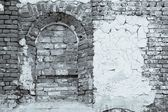 Wall of the ancient building in monochrome tones — Stockfoto