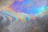 Abstract pattern of an oil or petrol slick — Stock Photo