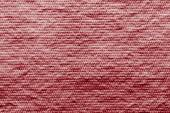 Texture wadded fabric of red color — Stock Photo