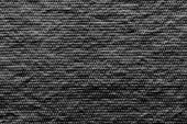 Texture wadded fabric of black color — Stock Photo