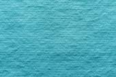 Texture wadded fabric of azure color — Stock Photo