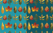 Vector seamless pattern with autumn set leaves. — Stock Vector