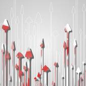 Arrow design background — Stock Vector