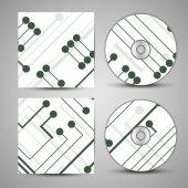 Okładka cd wektor zestaw do projektowania — Wektor stockowy