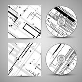 Vector cd cover  set for your design — 图库矢量图片