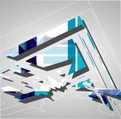 Abstrato futurista — Vetor de Stock