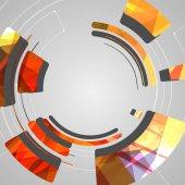 Abstracte achtergrond voor futuristische tech design — Stockvector
