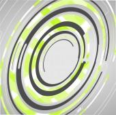 Fundo de círculos abstratos tecnologia — Vetor de Stock