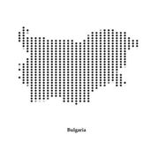 Dotted map of Bulgaria  for your design — Stock Vector