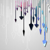 Arrow design background. — Vector de stock