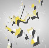 Fütüristik arka plan, geometrik şekil. — Stok Vektör