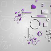 Красочные круги абстрактный фон — Cтоковый вектор