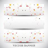 Conjunto de bandeiras de vetor abstrato — Vetor de Stock