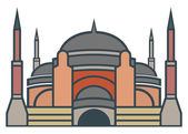 Hagia Sophia, Istanbul - simple icon — Stock Vector