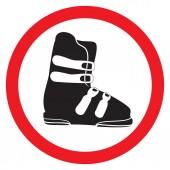No ski boot — Stock Vector
