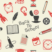 Back to School pattern — Stock Vector