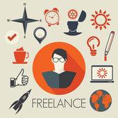 Freelance symbols — Stock Vector