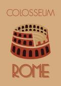Rome colosseum poster — Stock Vector