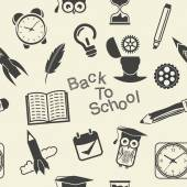 Zpátky do školy vzor — Stock vektor