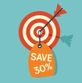 Target sale — Stock Vector