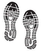 Imprint soles shoes - sneakers — Stock Vector