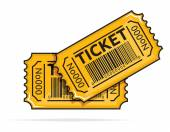 Two yellow tickets — Vettoriale Stock