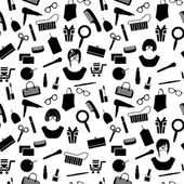 Woman stuff pattern — Stock Vector