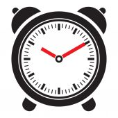 Vektor klockikonen — Stockvektor
