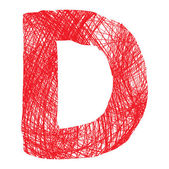 Letra de dibujo aislado sobre fondo blanco — Vector de stock