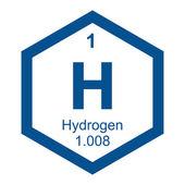 Periodic table Hydrogen — Vecteur
