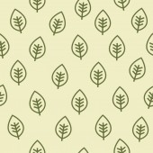 Leaf seamless vector pattern — Stock Vector