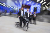 Motion Blurred Commuters — Stock Photo