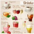 Set of food icons. Drinks. — Vettoriale Stock  #53083855